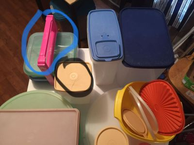 Tupperware Cleaning out cabinets