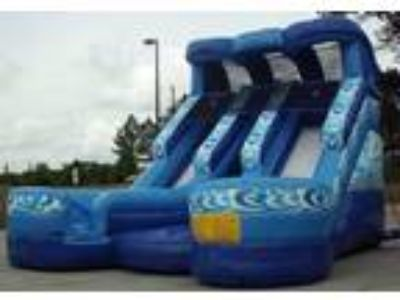 Atlanta GA 19' Double Lane Blue Water Slide For Rent for Rent