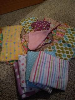 Burp rags and blankets