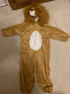 Hooded lion costume (approx size 3/4 yr)