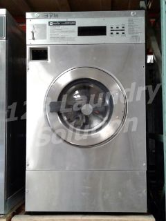 Heavy Duty Maytag Front Load Washer Coin Op 25LB MFR25PDAVS 3PH Stainless Steel Finish Used