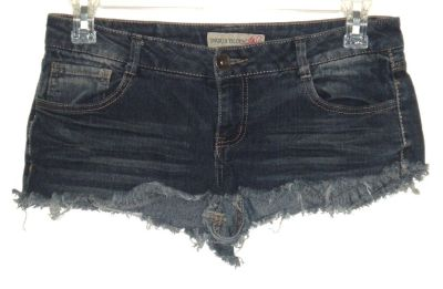 Paris Blues Cut-Off Super Short Denim Jean Mini Booty Shorts Womens 11 Juniors