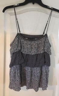 Cropped American Eagle peasant top m