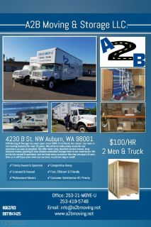 A2B Moving & Storage, LLC  (Seattle WA)