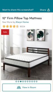 10 King Alwyn Home Firm Pillow Top Mattress and Box Springs