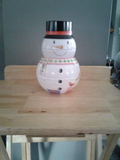 Metal snowman- can be filled with treats