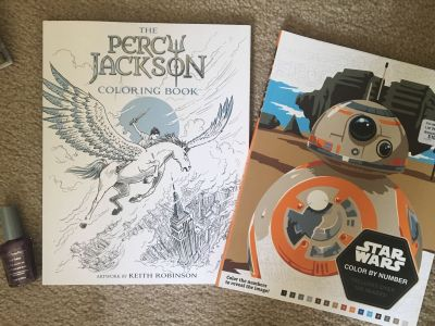 New Star Wars & Percy Jackson Coloring Books