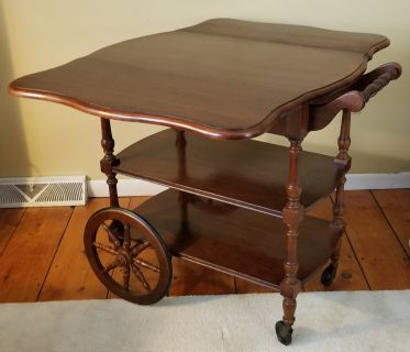 American Drew Cherry Drop-Leaf Tea Cart