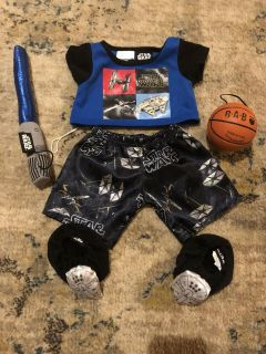 Build-a- Bear Star Wars outfit and basketball - smoke/pet free home