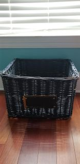 Large deep basket with spot on front to label or personalize