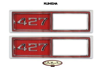 Buy NEW 68 CHEVELLE NOVA IMPALA 427 CHROME FRONT SIDE MARKER BEZEL RED PAIR motorcycle in Bryant, Alabama, United States, for US $99.95