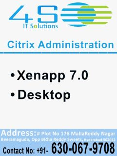 4S IT SOLUTIONS learn Citrix Administration from experts