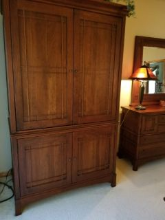Lexington Bob Timberlake Art and Crafts Solid Cherry Bedroom Armoire