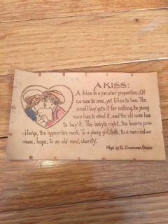 A Kiss Leather Post Card