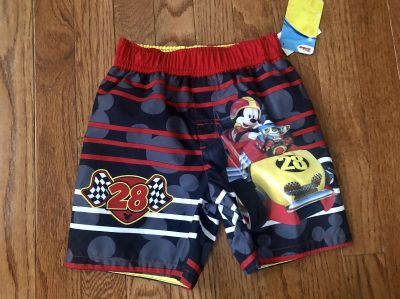 NWT Mickey Roadster Racers bathing suit, 3T