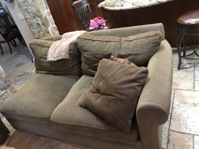 Three piece Sectional down sofa with full bed pull out