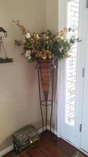From Turkey: High Quality Flower Arrangement with Wrought Iron Stand