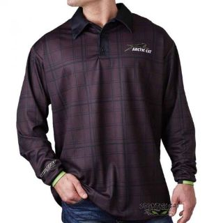 Find Arctic Cat Men's Wildcat Long Sleeve Polo - Black ATV Tee - 5258-55_ motorcycle in Sauk Centre, Minnesota, United States, for US $37.99
