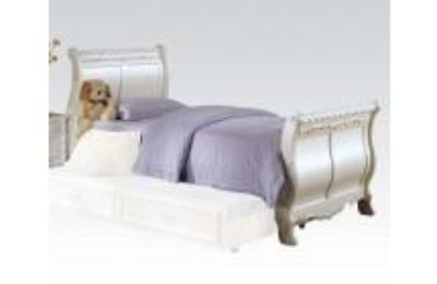 ACME 01010T PEARL WH TWIN BED HB/FB/R