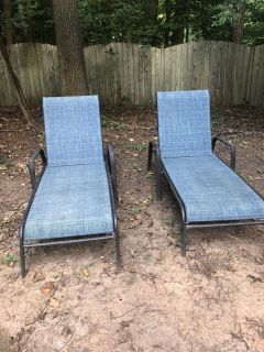 Blue Lawn Chairs - set of 2
