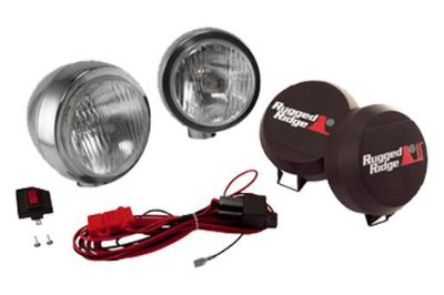 Find Rugged Ridge 15206.52 - Off Road Stainless Steel HID Fog Light Kit 1 Pc motorcycle in Suwanee, Georgia, US, for US $323.17