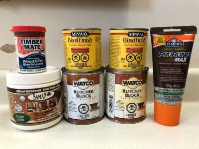 Assorted Wood Stain, filler and etc