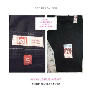 NEW! LEI HIPSTER FLARE BLACK JEAN