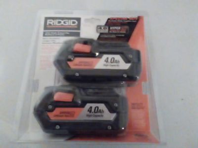 $75 Two Ridgid 4ah Lithium Ion Batteries Matthew Bradley hasn t added a description to their listing: Two Ridgid 4ah Lithium ion Batteries