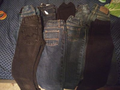 9 pairs of size 4/5 jeans