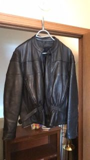 Women s Leather Motorcycle Jacket, mesh lining