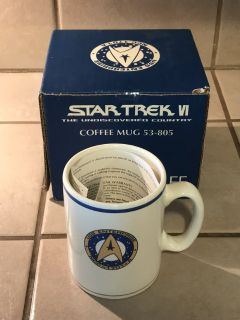 Star Trek Pfaltzgraff Coffee Mug in Box Never Used
