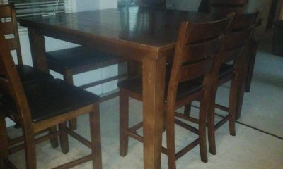 Cherry Wood Table & Chairs