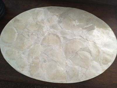 4 shell white placemats 18x12