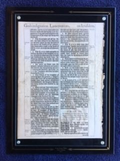 Authentic 1611 King James Bible Leaf (Mounted )
