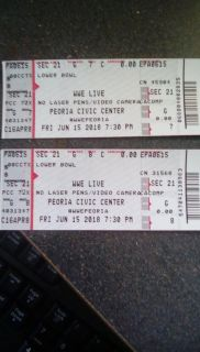 WWE Live tickets!! 2 Lower bowl seats!! Tonight's show!!