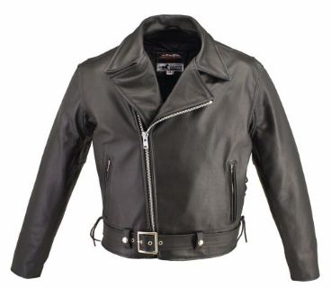 """Find Black Horsehide Leather Jacket Size Medium = 40"""" Jacket Chest Size motorcycle in Kissimmee, Florida, United States, for US $429.99"""