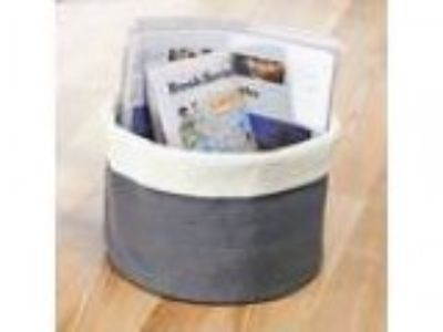 InterDesign Ellis Hand Knit Round Bin for Towels Blankets Handba