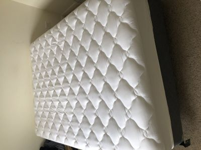 Queen Mattress with Spring Box, Frame and Topper