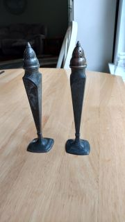 """Vintage 1930's Astor by Poole salt and pepper shakers measure 6 1/2"""" tall"""