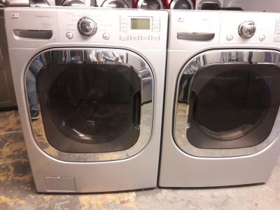 LG steam washer and steam dryer electric