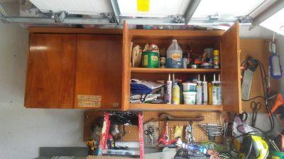Four soild wood storage cabinets