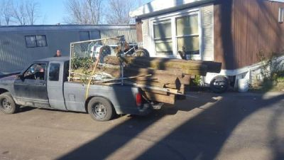 Lay mulch/clean out mulch beds/garbage disposal/fence/deck removal