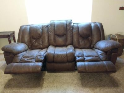 Brown recliner couch