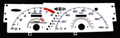 Find 140MPH Indiglo Euro Reverse Glow Gauge Overlays For 92-93 Honda Prelude V-Tech motorcycle in Monterey Park, California, United States, for US $24.99