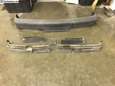 Late model fiberglass bumper set