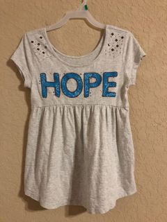 Justice Brand Grey HOPE Grey Shirt. Nice Condition. Size 12.
