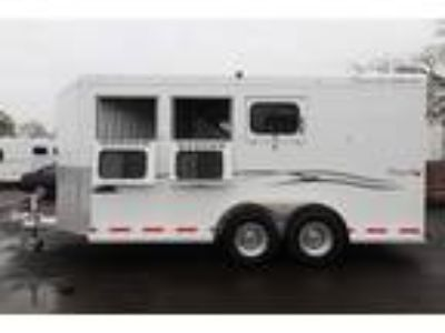 "2018 Trails West Classic 7'6"" Tall Conv. Pkg Upgr. 6000# Axles 3 horses"