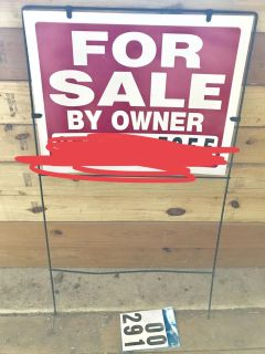 For sale sign & extra numbers