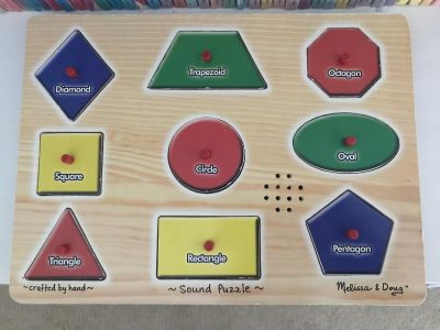 Melissa and Doug Wooden Shapes Sound Puzzle