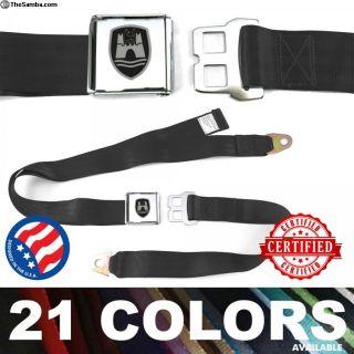 VW Volkswagen Wolfsburg Black Lap Seat Belt